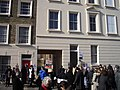 Demonstration outside Crown Estate office in Bessborough Place Pimlico - geograph.org.uk - 1716580.jpg