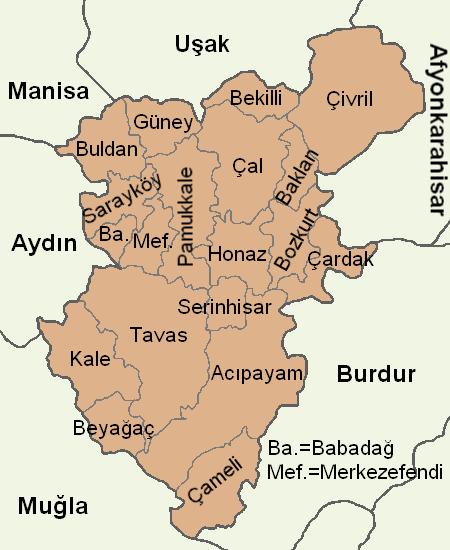 Denizli location districts