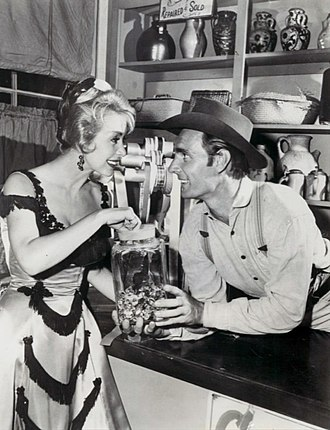 Susan Cummings (actress) - With Dennis Weaver in Gunsmoke, 1960