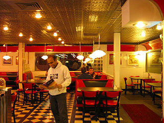 Denny's - Denny's Diner in Bangor, Maine, inspired by 1950s culture