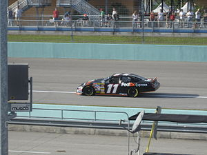 Denny Hamlin - Hamlin practicing for the 2007 Ford 400 at the Homestead-Miami Speedway.