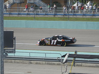 Denny Hamlin - Hamlin practicing for the 2007 Ford 400 at the Homestead-Miami Speedway