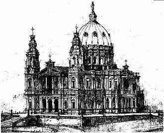 Holy Name Cathedral, Brisbane - Design for the Holy Name Cathedral, Brisbane
