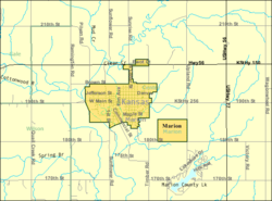 Detailed map of Marion