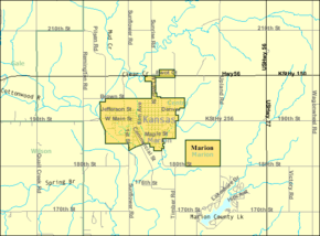 Detailed map of Marion, Kansas.png
