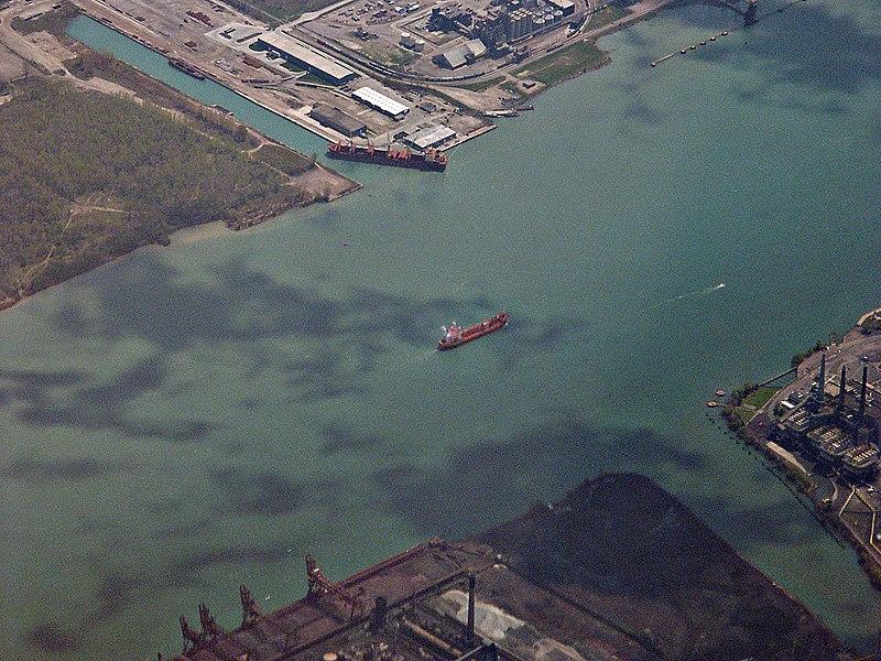 File:Detroit River aerial.jpg