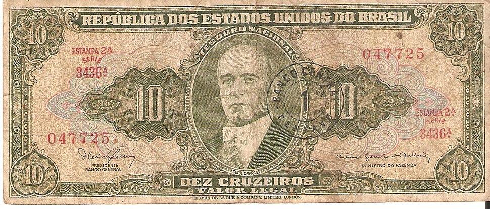 Dez Cruzeiros - Frente