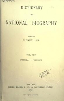 Dictionary of National Biography volume 45.djvu