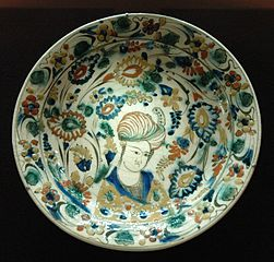 Dish with portrait of a youth