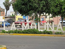 District sign Peru Lima La Molina.jpg