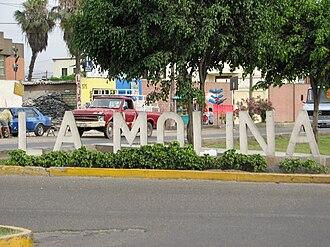 La Molina District - District sign at La Molina Avenue