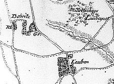 Dobritz + Leuben - Kartenausschnitt von einem Teil des Kurfürstentums Sachsen - Petri - nach 1759 - Fotothek.jpg