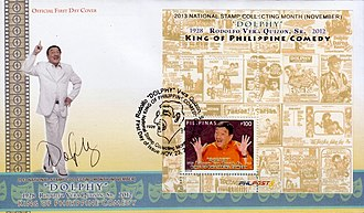 Dolphy - Dolphy on a 2013 stamp sheet of the Philippines