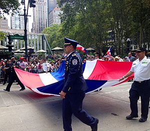 Dominican people at Dominican parade, New York City