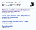 Donald Trump Wikipedia Signpost sidebar screenshot.png