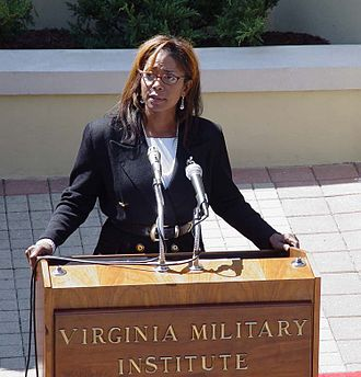 Donzaleigh Abernathy - Donzaleigh Abernathy speaking at the Virginia Military Institute