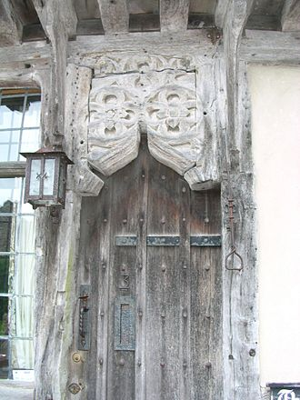 Cerne Abbas - The pitchmarket doorway