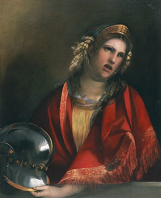 Dido - Dido, a painting by Dosso Dossi.