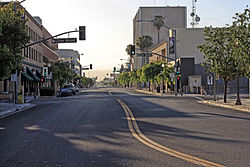 Downtown Bakersfield in July 2010.