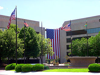 St. Clair County Courthouse (Illinois) - Plaza entrance to the courthouse