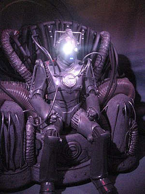 Cyberman - Cyber Controller, on display at the Doctor Who Experience.