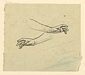 Drawing, Study of two hands reaching, ca. 1890 (CH 18404433).jpg