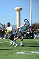 Drew Brees and Alfred Morris 2015 Pro Bowl practice.jpg