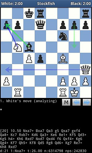 Stockfish (chess) - DroidFish is a free Android chess program that bundles the Stockfish engine.