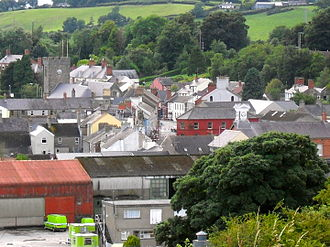 Dromore, County Down - Image: Dromore town centre from Mound