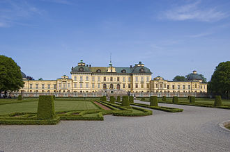 Drottningholm Palace - Front view of the palace.