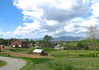 Ducktown, Tennessee - View across Ducktown, with Little Frog Mountain in the distance