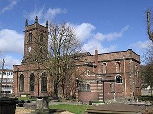 Church of St Edmund, Dudley - St Edmund's Dudley, rebuilt 1724