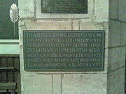 Duns Scotus plaque University Church Oxford