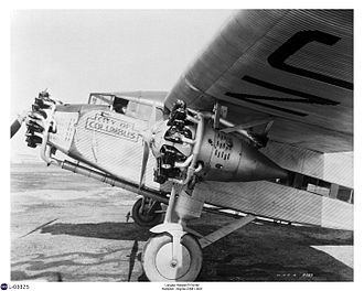 "Transcontinental Air Transport - TAT Ford 5-AT-B ""City of Columbus"" flown by Lindbergh"