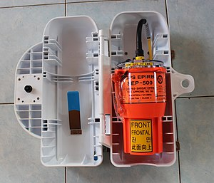 EPIRB emergency locator beacon on a ship EPIRB (1).jpg