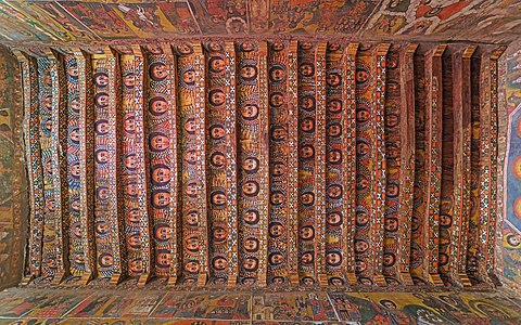 Church ceiling in Gondar