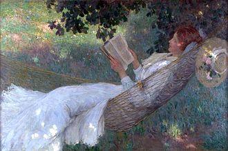 Nasturtiums (E. Phillips Fox) - E. Phillips Fox – A Love Story,  1903 in the Ballarat Fine Art Gallery