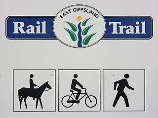 Rail trail railroad bed converted to a recreational trail