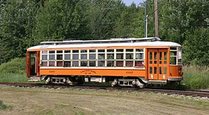 Seashore Trolley Museum - A 1918-built car of the Eastern Mass. Street Railway