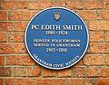 Edith Smith blue plaque in Grantham.JPG