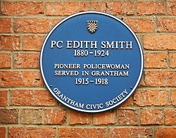 Edith smith blue plaque in grantham