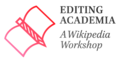 Editing Academia Wikipedia Edit-a-thon logo.png