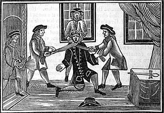 Edmund Berry Godfrey - A print depicting the murder of Godfrey