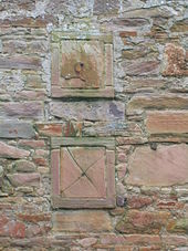 movable blocks to control the movement of hot air in the heated wall at eglinton country park - Garden Wall