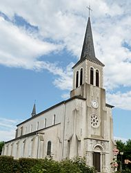 The church of Saint-Jean-Baptiste, in Beuste
