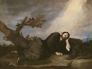 Jacob's Ladder - Jacob's Dream (1639) by José de Ribera, at the Museo del Prado, Madrid