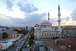 A view of İzzet Pasha Mosque in the city centre.