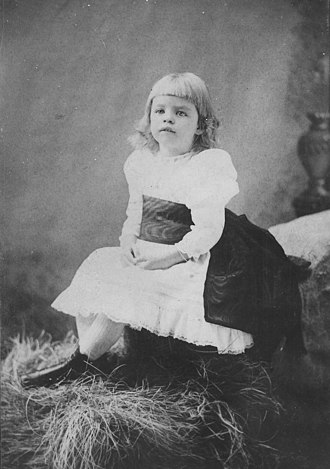 Eleanor Roosevelt - Roosevelt as a small child, 1887