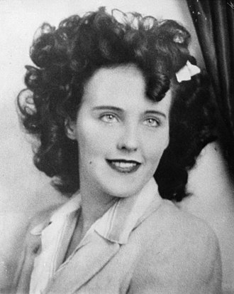 "Black Dahlia - Elizabeth Short (the ""Black Dahlia"") circa 1946"