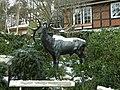 Elk sculpture at Wildpark, Hamburg, Germany.jpg